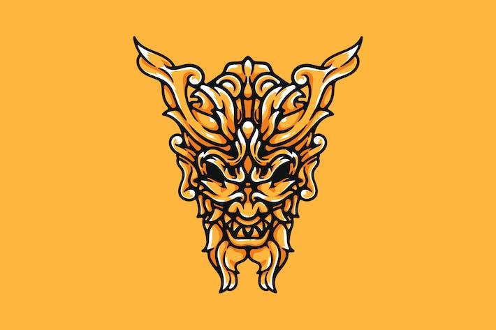 Thumbnail for Ornamental Oni Mask