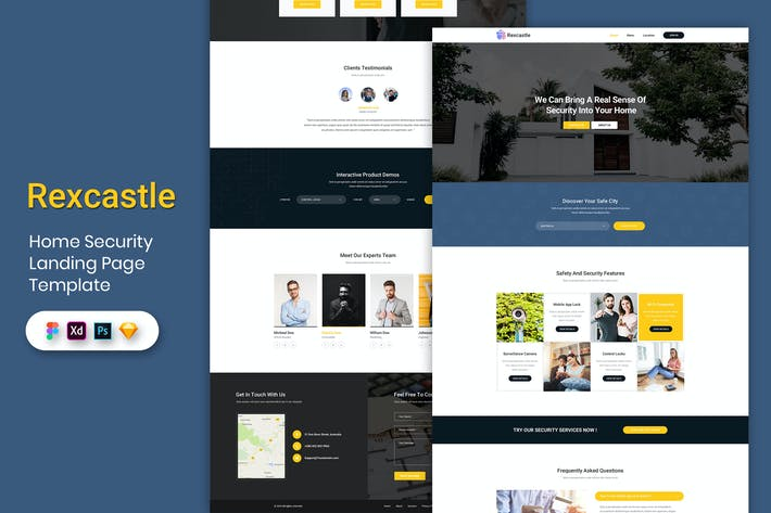 Thumbnail for Home Security - Landing Page Template-02