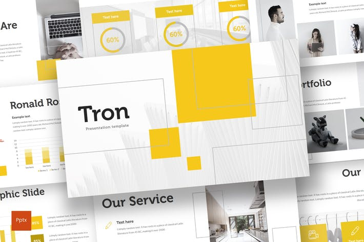 Thumbnail for Tron - Powerpoint Template