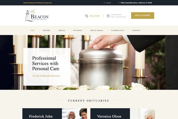 Thumbnail for Beacon | Funeral Home WordPress Theme