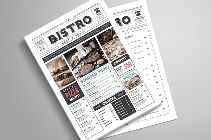 Thumbnail for Newspaper Style Food Menu