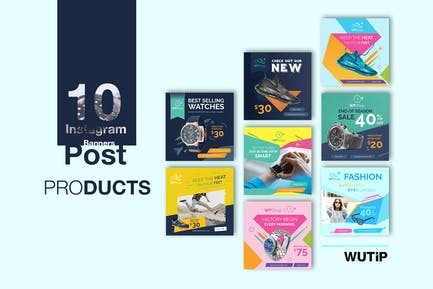 10 Instagram Post Banner-Products