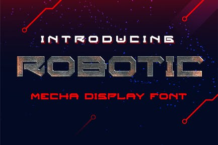Robotic Mecha Display Font