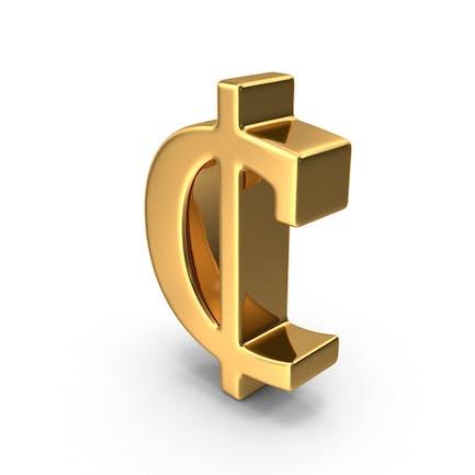 Gold Cent Symbol