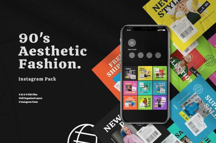 Thumbnail for 90's Aesthetic Fashion Instagram Pack