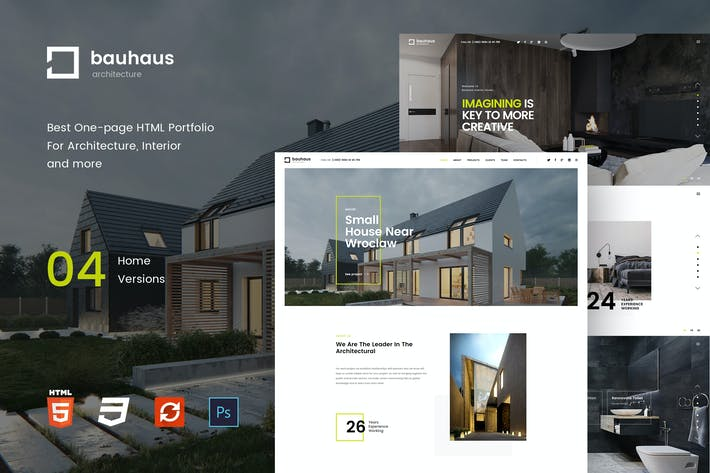 Thumbnail for Bauhaus - Landing Page | Architecture & Interior