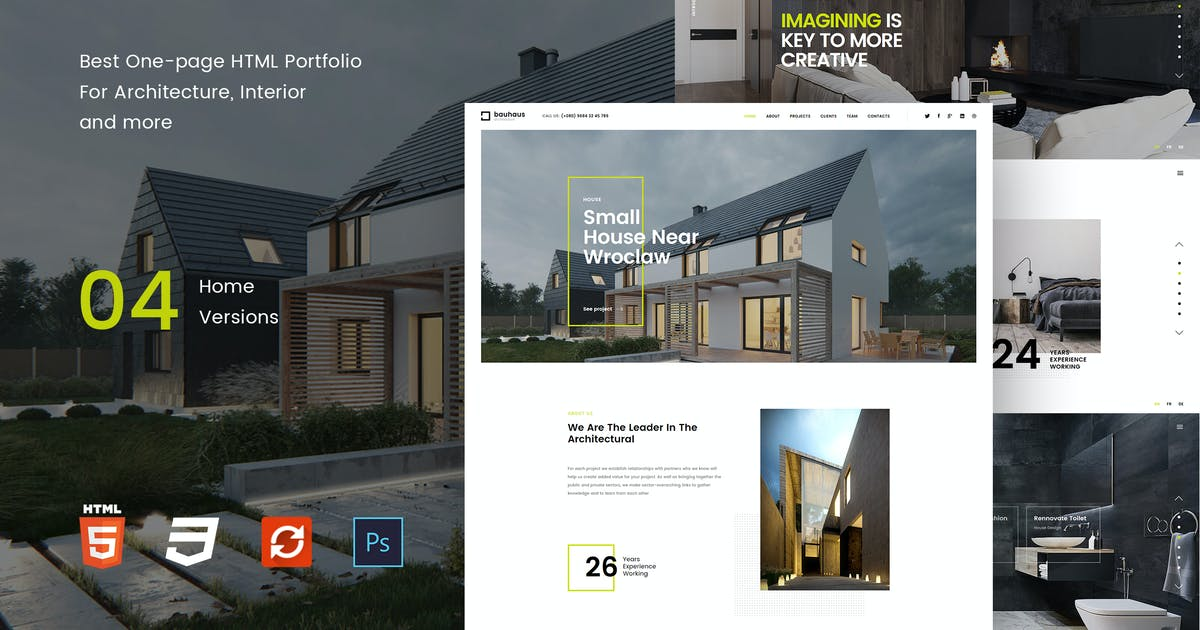 Download Bauhaus - Landing Page   Architecture & Interior by paul_tf