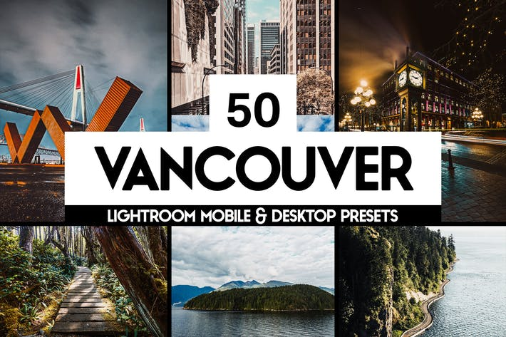 Thumbnail for 50 Vancouver Lightroom Presets LUTs