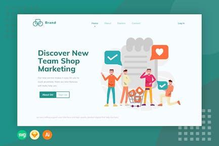E-commerce List Task - Illustration Web Header
