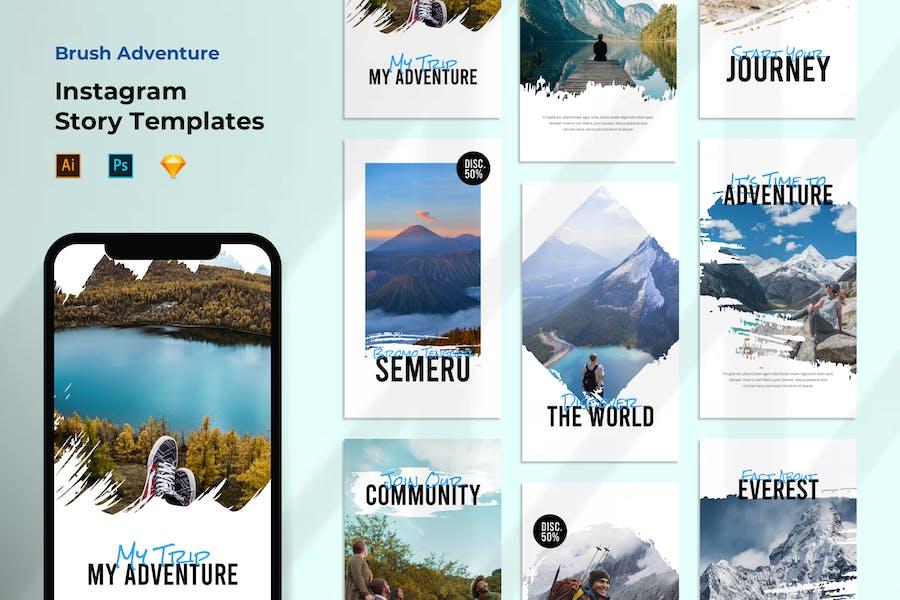 Instagram Story Template - Travel & Adventure