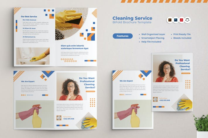 Thumbnail for Cleaning Services Bifold Brochure