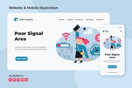 Poor signal coverage - internet problem web&mobile