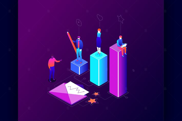 Thumbnail for Business competition -  isometric illustration