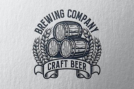 Brewing Vintage Logo Template
