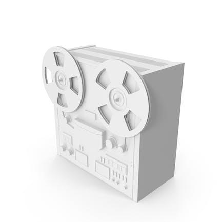 Monochrome Reel to Reel Player