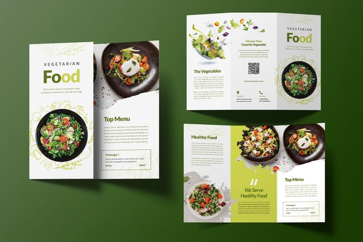 Thumbnail for Brochure triplée des aliments végétariens