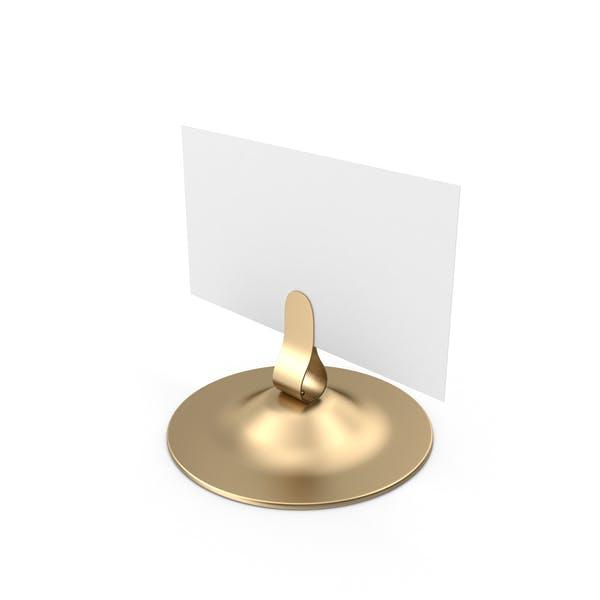 White Table Sign Metallic Holder