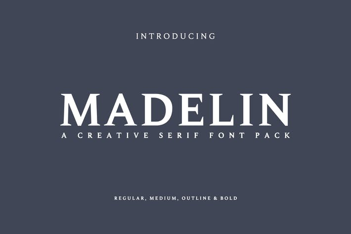 Cover Image For Madelin Serif Font Family