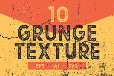 10 Grunge-Textur-Pack