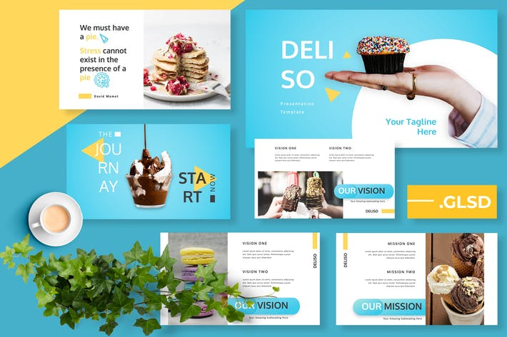 Cover Image For Deliso Restaurant Google Slides Presentation