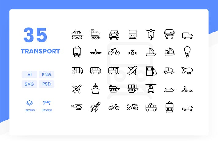 Thumbnail for Transport - Icons Pack