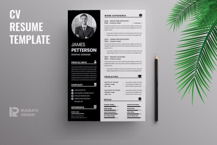 Thumbnail for Minimalist CV  Resume R40 Template