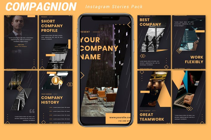 Thumbnail for Compagnion - Instagram Story Pack