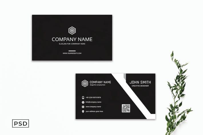 Black Creative Business Card Template V3