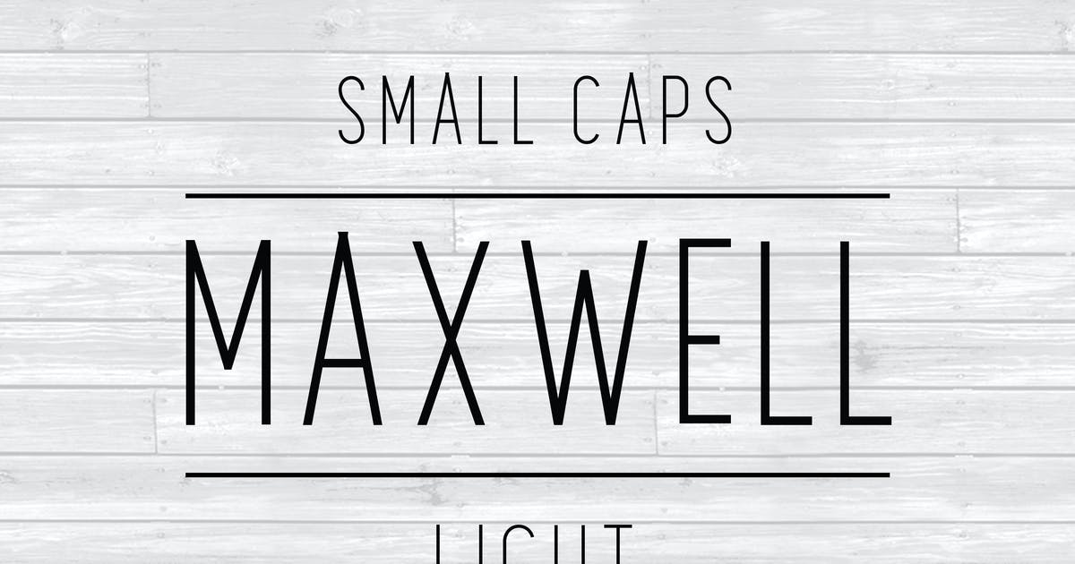 Download Maxwell Sans Small Caps Light by kimmydesign