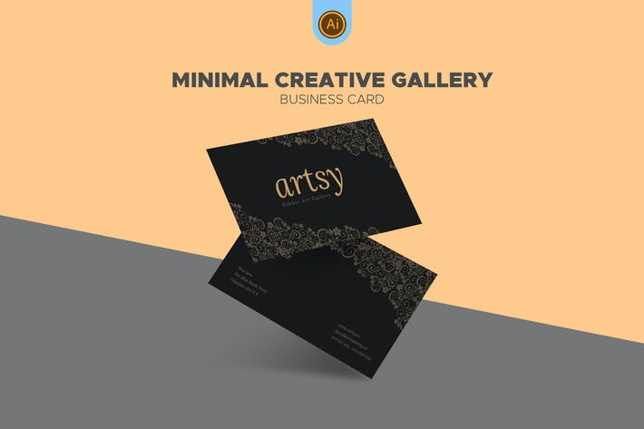 Thumbnail for Art Gallery Shop Business Card