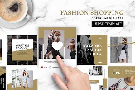 Fashion Shopping Instagram Vorlage