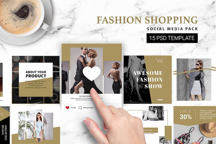 Thumbnail for Fashion Shopping Instagram Template