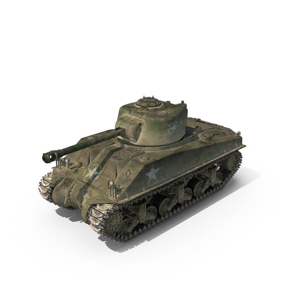 Sherman Tank Olive Scheme with Dust