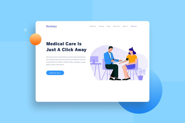Thumbnail for Healthcare Doctor check the patient landing page