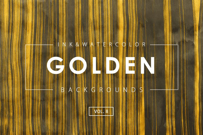 Thumbnail for Golden Ink Backgrounds 8