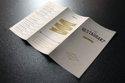 Elegant Food Menu 3 Light Illustrator Template
