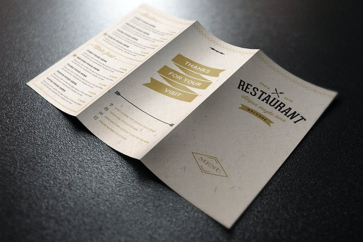 Elegant Food Menu 3 Light Illustrator Template