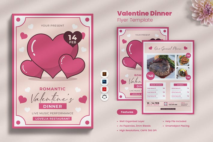 Thumbnail for Valentine Dinner Flyer