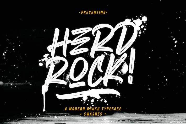 Thumbnail for Herdrock Brush Typeface