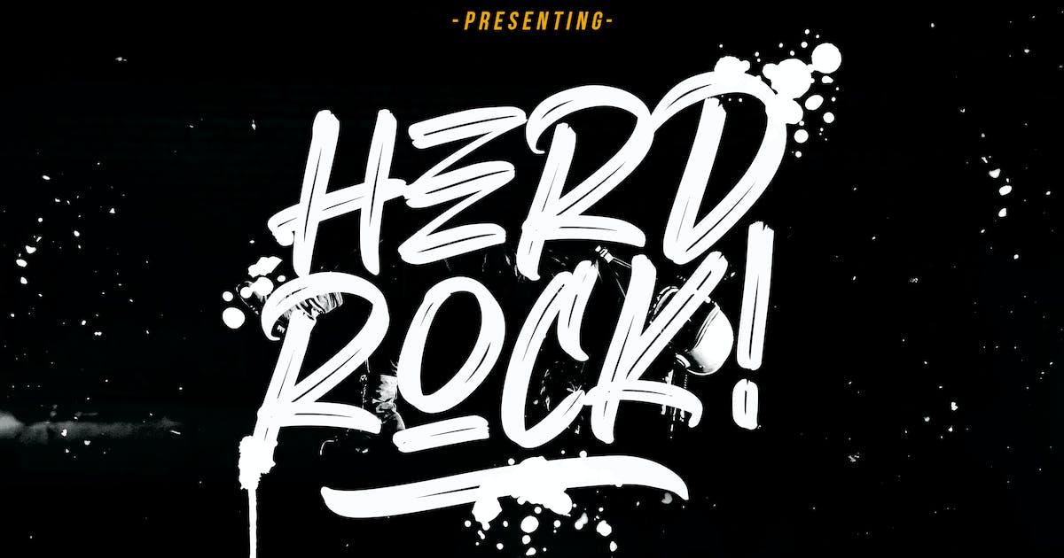 Herdrock Brush Typeface by RahardiCreative