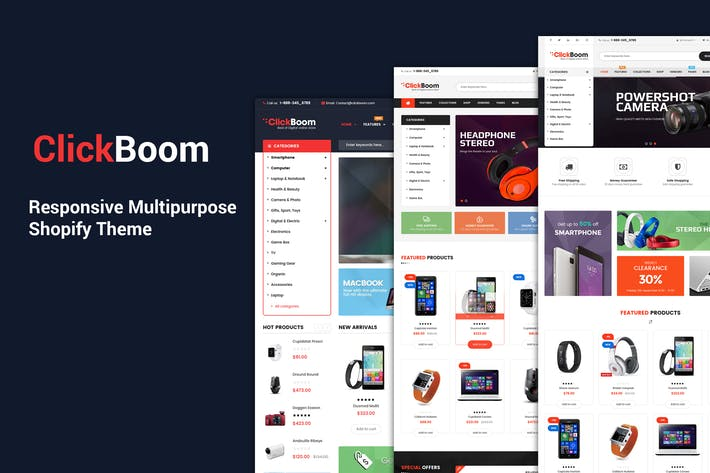 Cover Image For ClickBoom - Responsive Multipurpose Shopify Theme