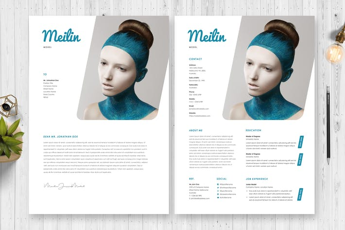 Thumbnail for Model Resume / CV Template 46