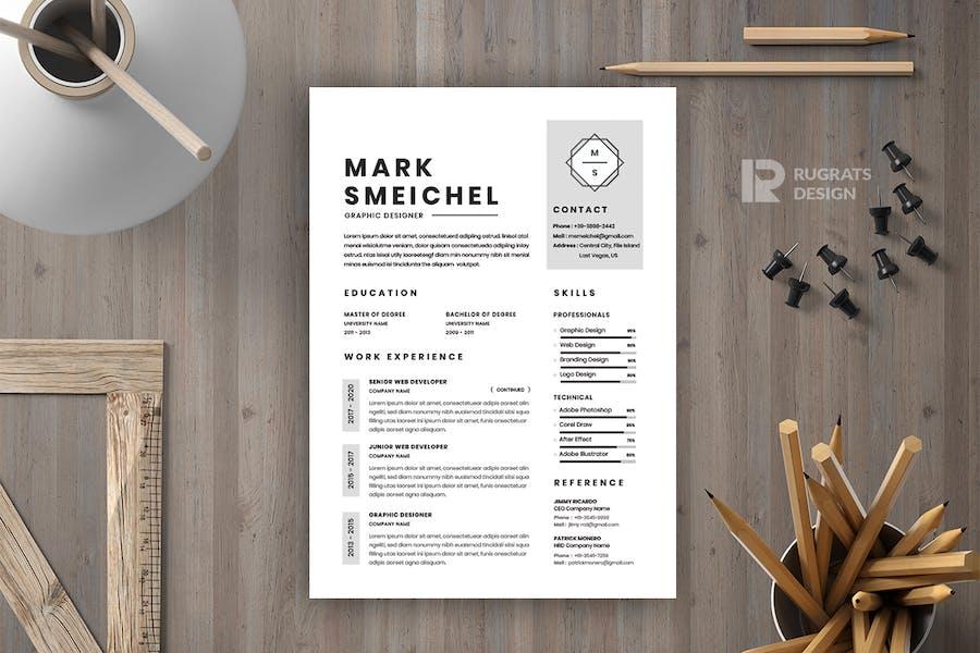 Minimalist CV  Resume R47 Template