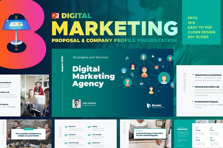 Thumbnail for Digital Marketing Agency Keynote Presentation