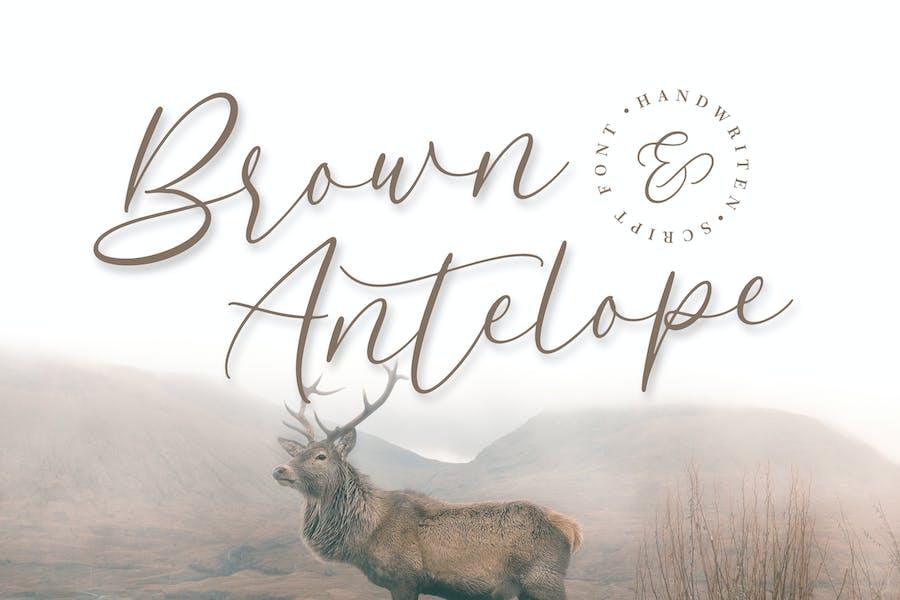 Brown Antelope - Beauty Script Font