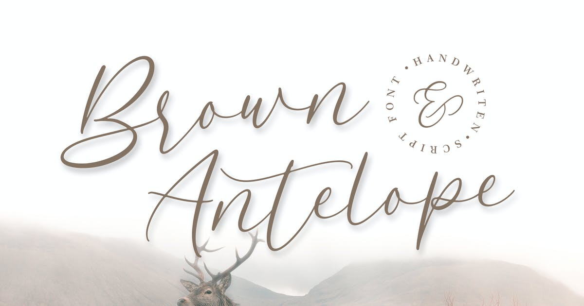 Download Brown Antelope - Beauty Script Font by naulicrea