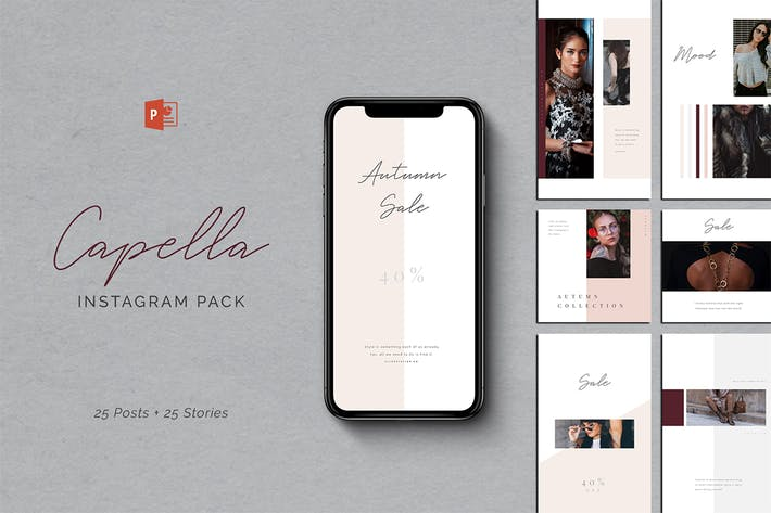 Thumbnail for Capella PowerPoint Instagram Pack
