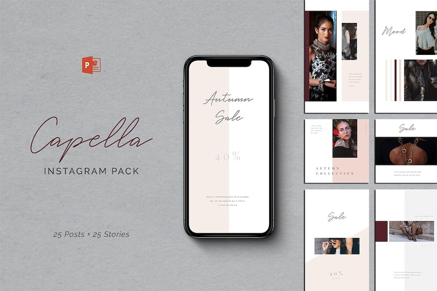 Capella PowerPoint Instagram Pack - product preview 0