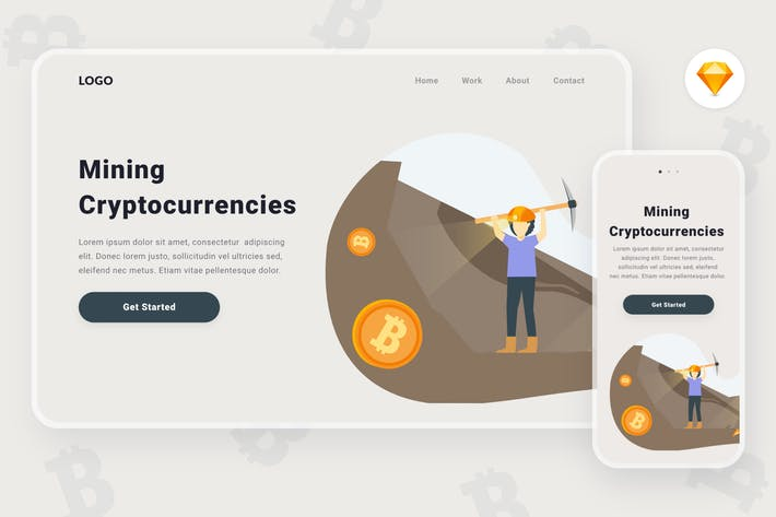 Thumbnail for Mining Cryptocurrencies Illustration (Sketch, SVG)