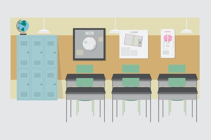 Thumbnail for Klassenzimmer - Illustration Hintergrund